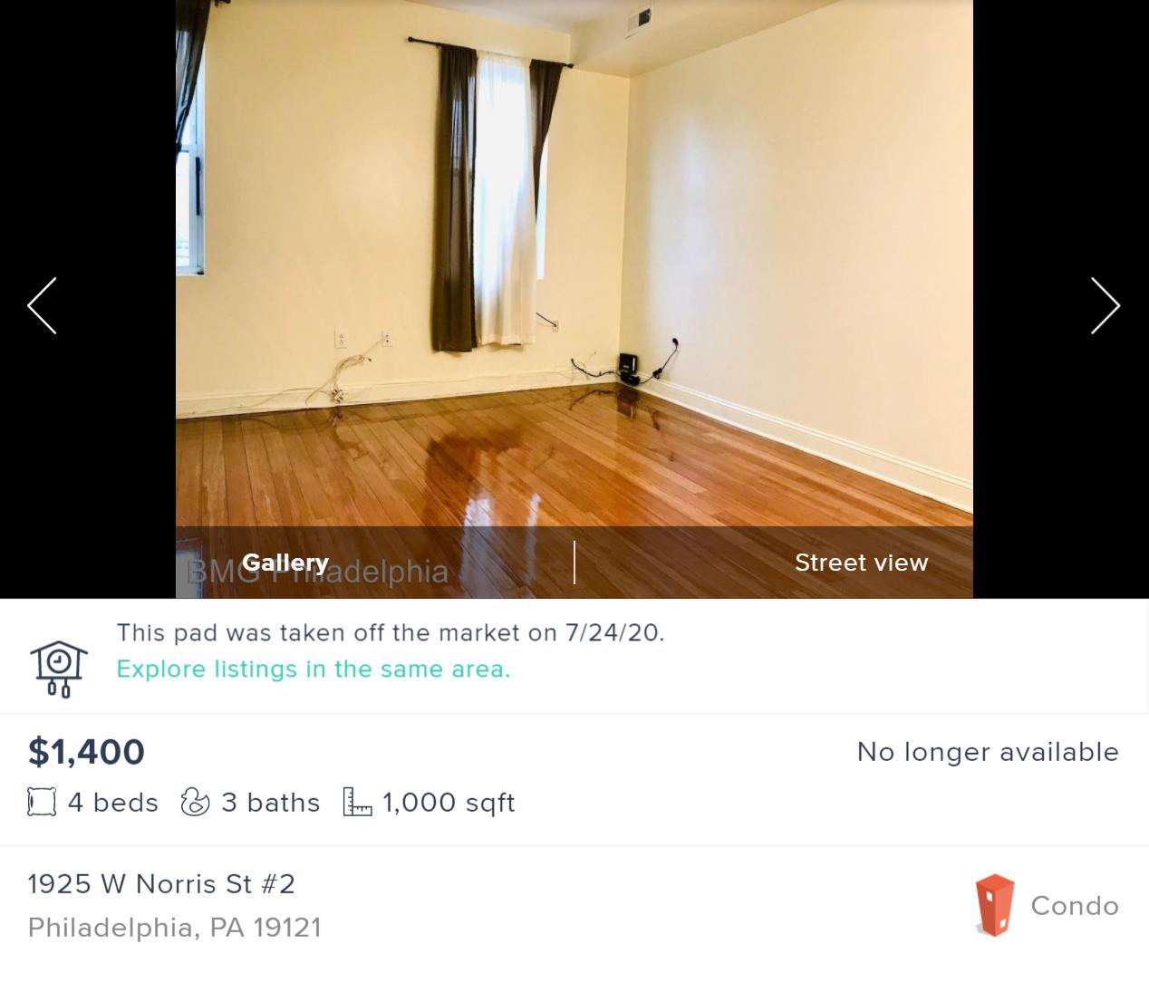 Такая квартира безмебели стоит1400$ в месяц