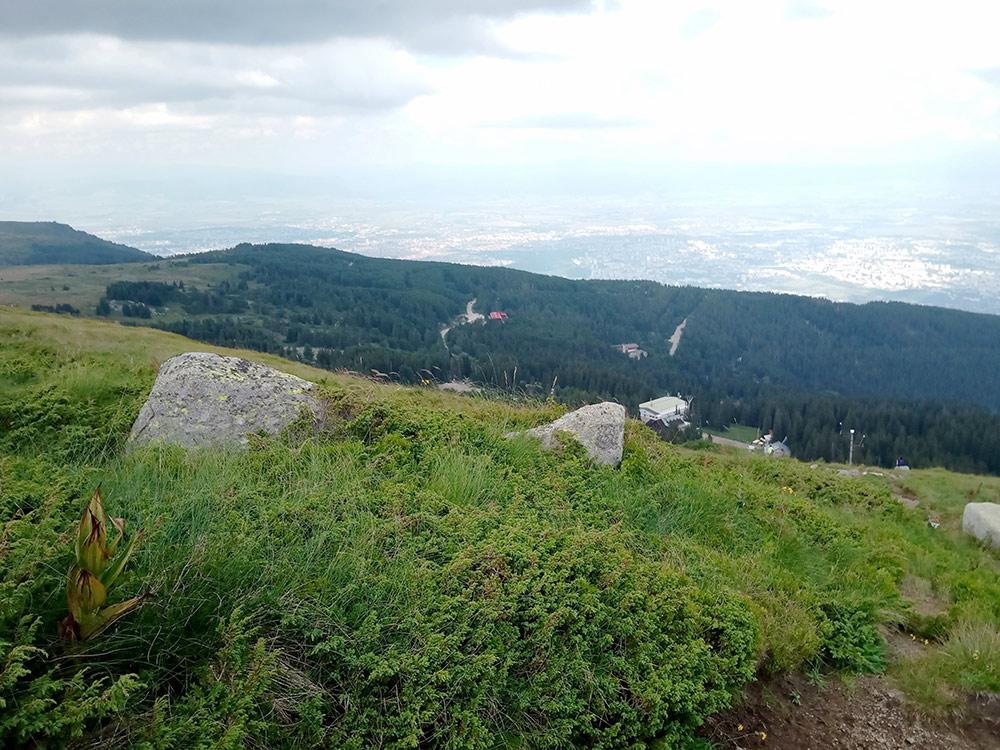 С вершины горы Витоша открываются вот такие виды