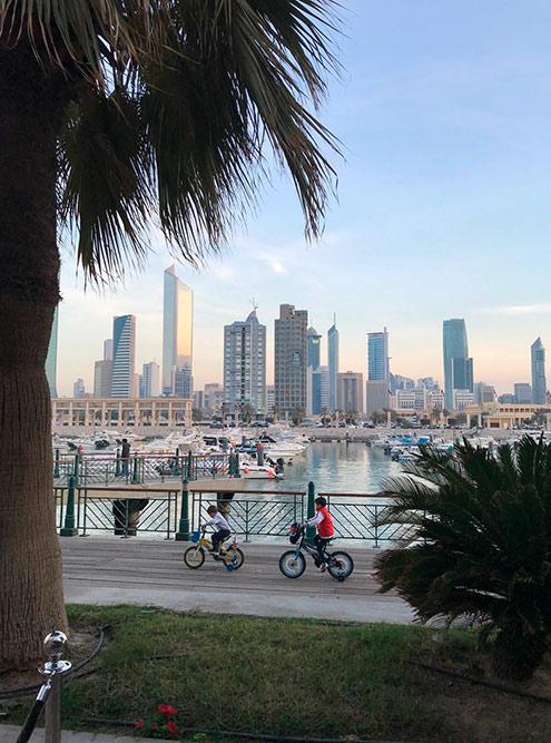 Зимой улицы Кувейта наполняются людьми