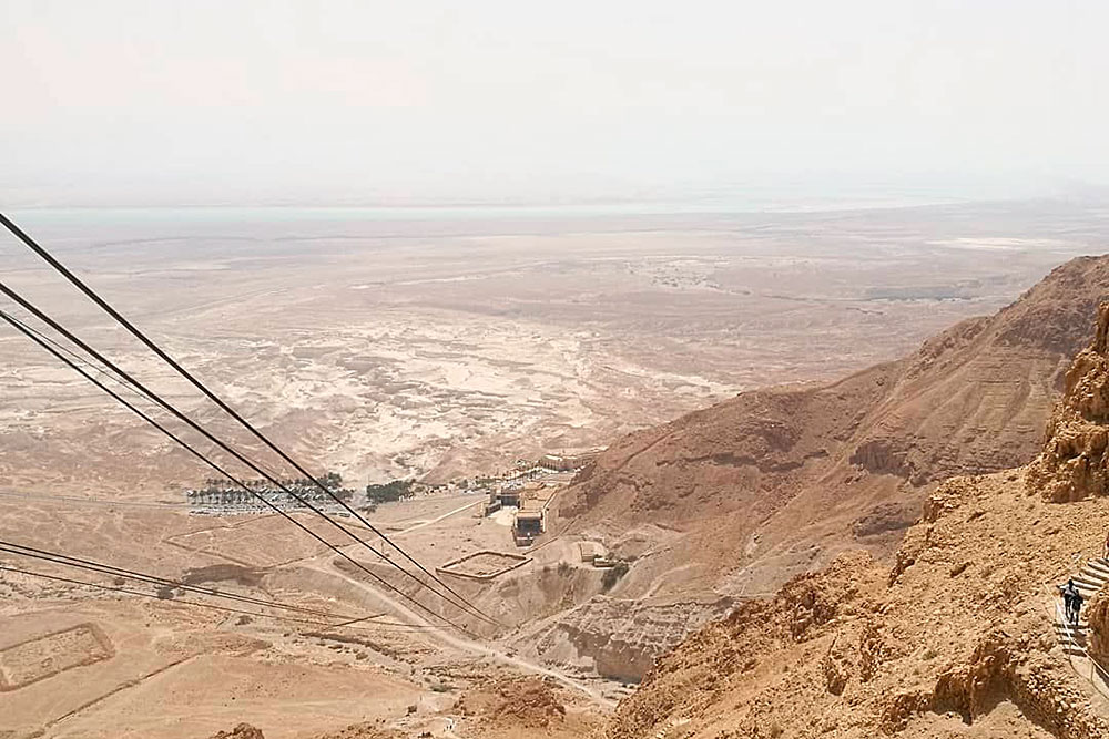 Вид с обзорной площадки крепости Масада — символа свободы дляевреев