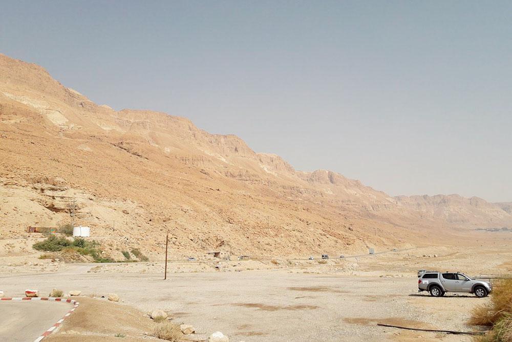 На подъезде к Мертвому морю. 80% Израиля за пределами городов выглядит так