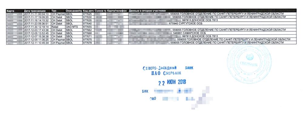 При помощи бумажной выписки по счету у «бухгалтера» Александра появилось имя