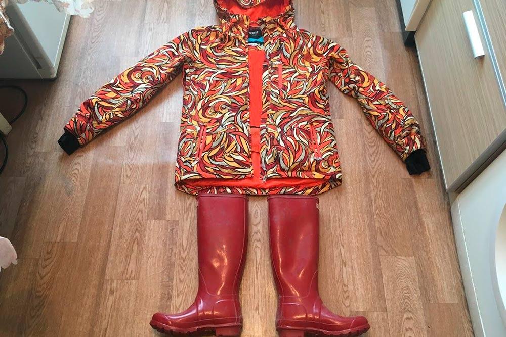 Сноубордическая куртка и сапоги «Хантер»