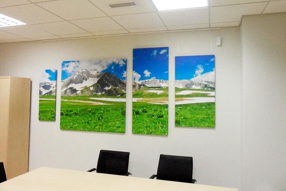 Одна из картин в офисе «Газпрома»