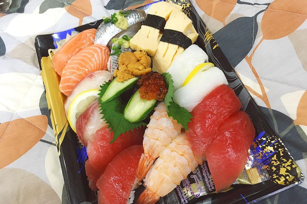 Набор суши, который можно купить в любом магазине