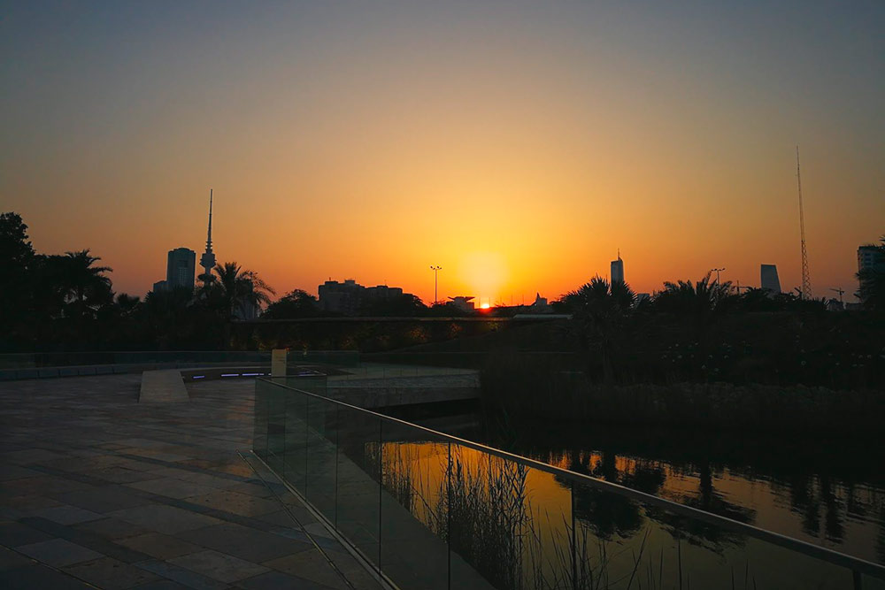 Закат в парке Аль-Шахид
