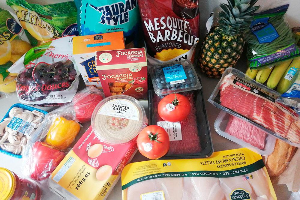 Наши продукты на неделю