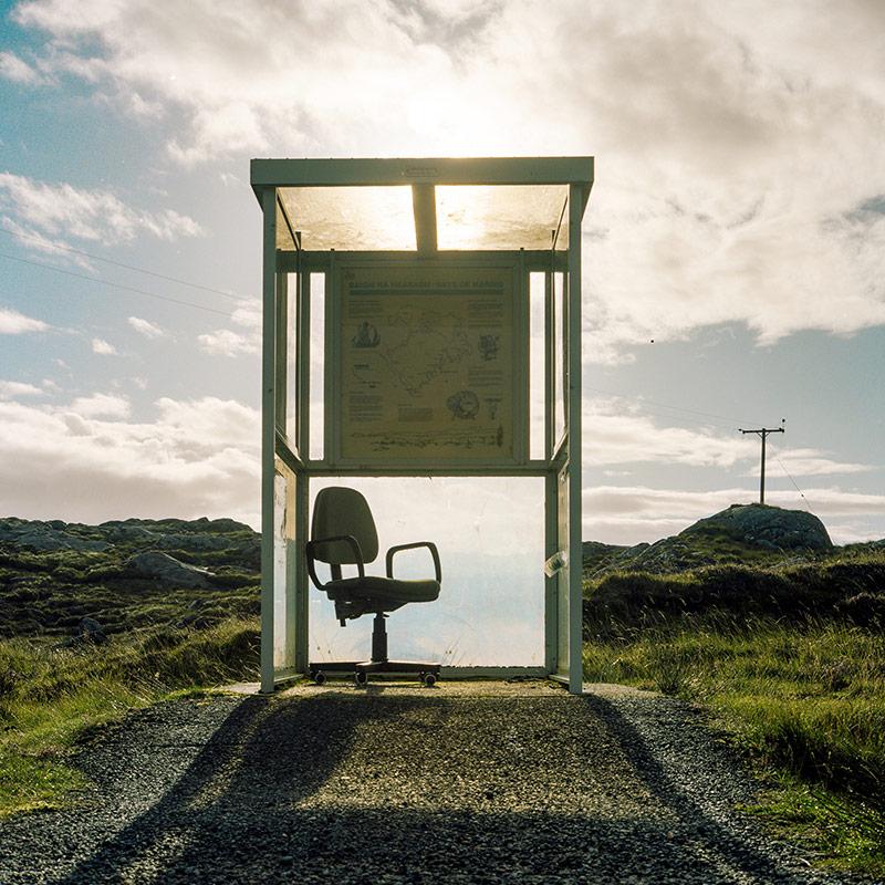 Автобусная остановка на острове Harris