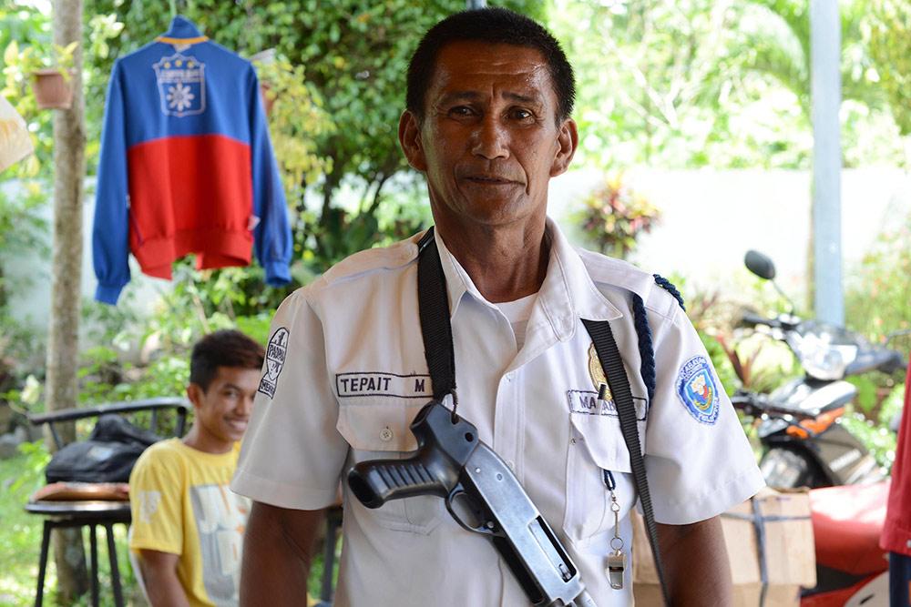 Филиппинский охранник