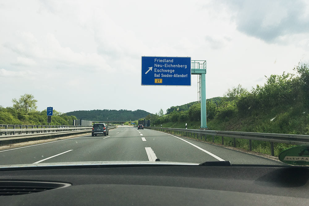 13 мая 2018года. Папа везет меня из Мюнхена во Фридланд