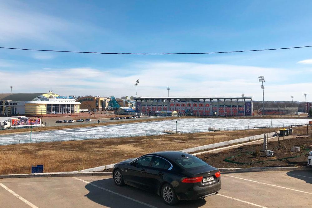 Пруд у стадиона «Старт» в Ленинском районе Саранска