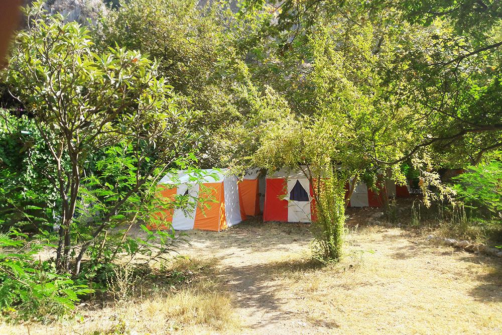 Палатки неизвестного официального кемпинга