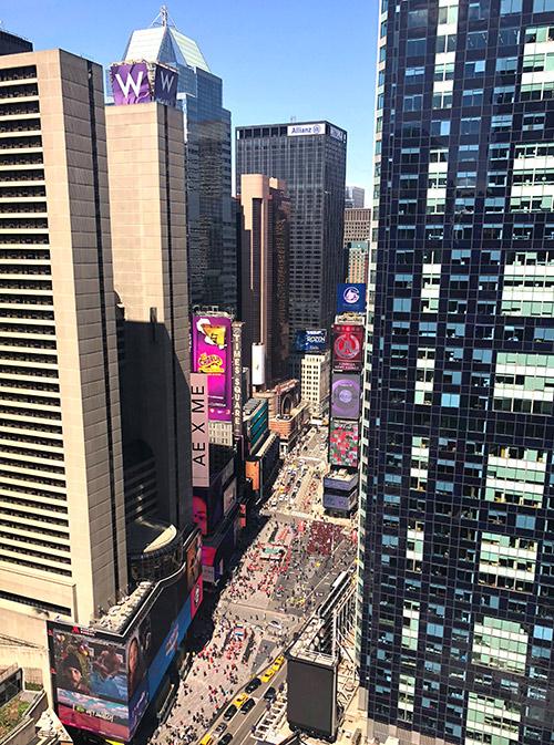 Вид на Таймс Сквер