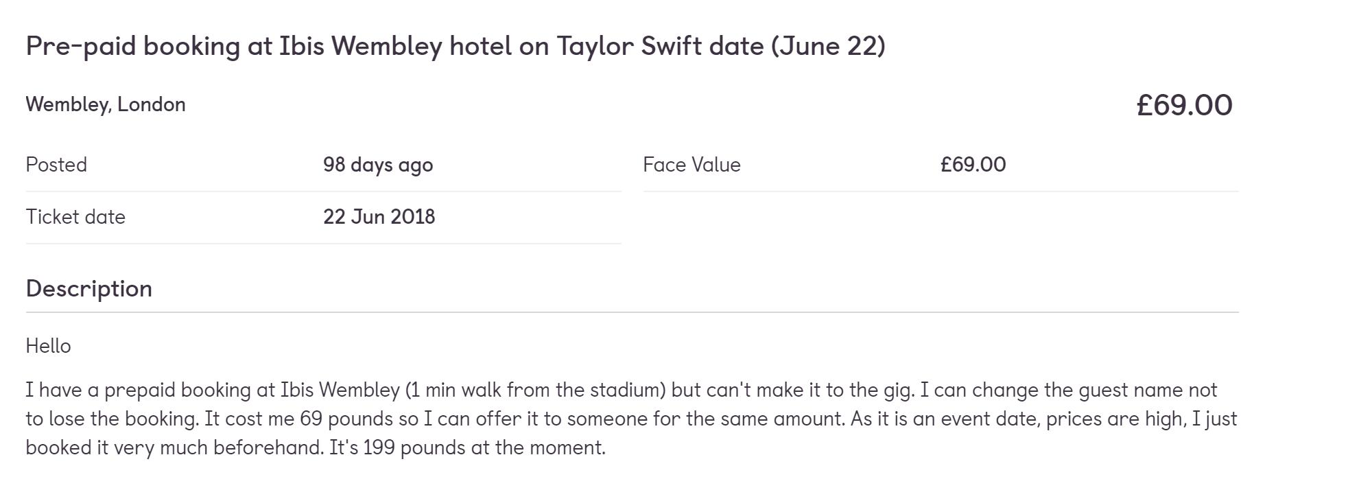Цену указала ту, что заплатила сама, — хотелось просто вернуть деньги. В этот момент такие же номера отель продавал уже по 199 фунтов за ночь — это больше 16 тысяч рублей