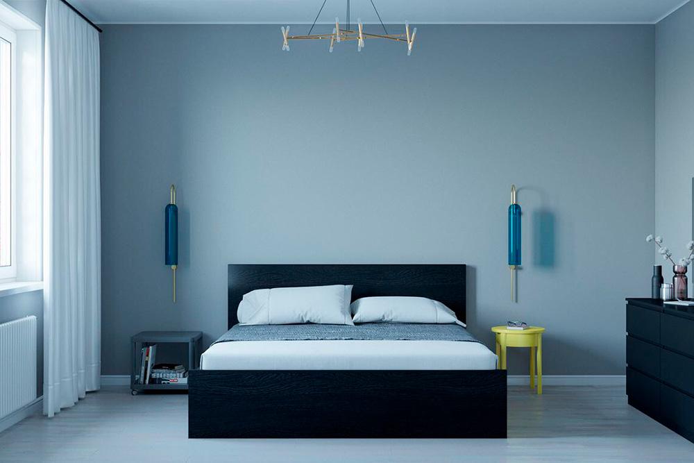 Минимализм: минимум деталей и максимум комфорта, два базовых цвета, темно-серый фон, функциональная мебель строгой геометрической формы