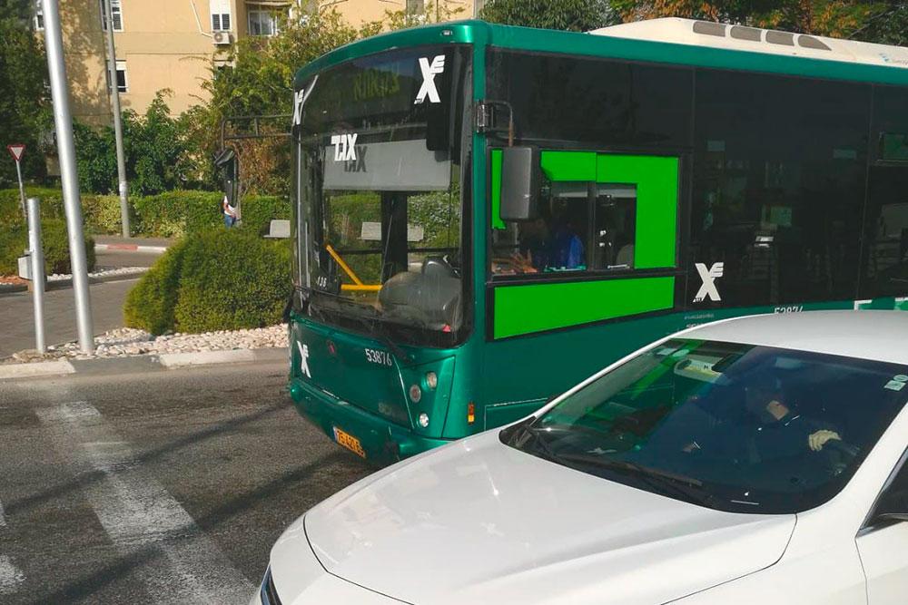 Автобус в Хайфе
