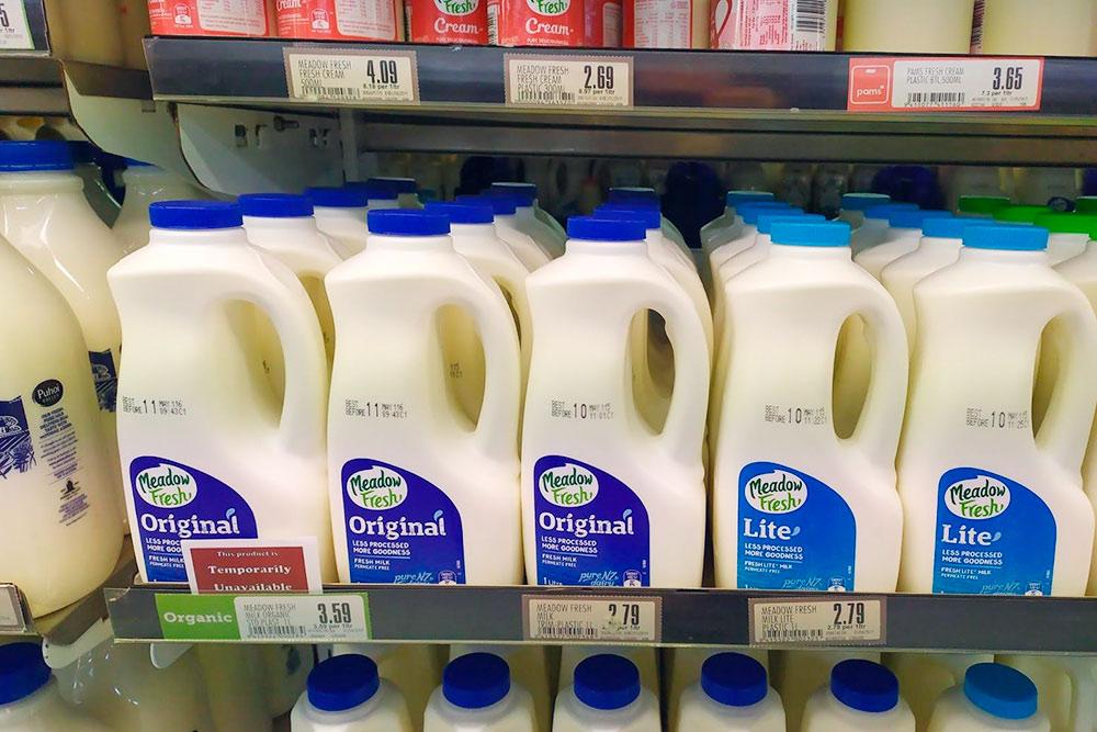 Цена литра молока — 114<span class=ruble>Р</span>