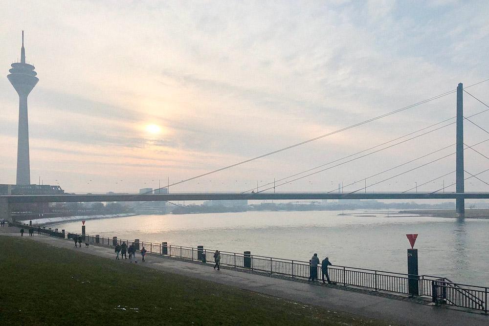 Вид на набережную Рейна. Особенно там хорошо летом