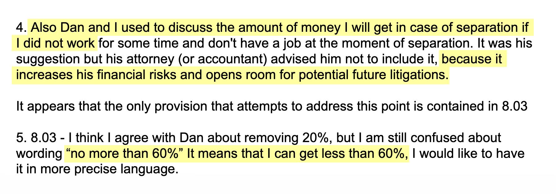 Пишу адвокату, что меня не устраивает расплывчатое условие про{amp}amp;nbsp;компенсацию «не более 60%»