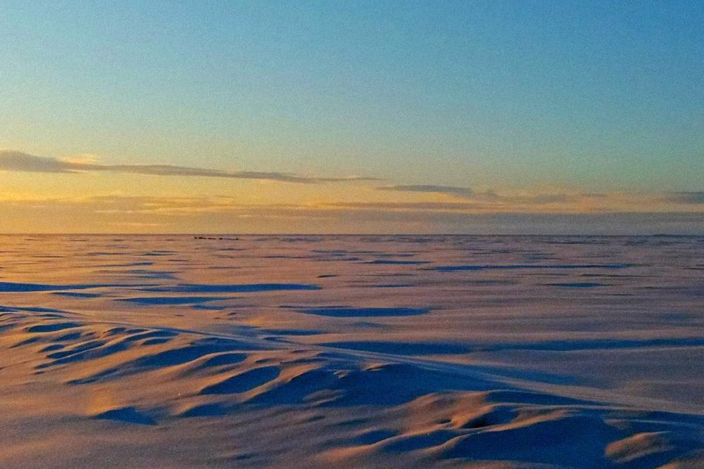 Безжизненная тундра простирается на сотни километров