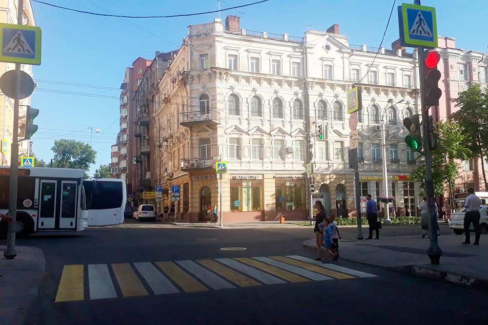 Со стороны Большой Садовой улицы Ростов-на-Дону смотрится красиво