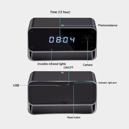 ❌ Камера, спрятанная в будильник, за 4500<span class=ruble>Р</span>. Установленный детектор движения может автоматически включать видеозапись