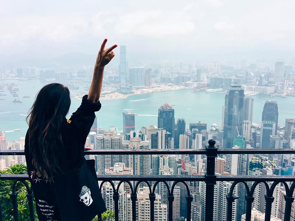 Вид с пика Виктории — самой высокой точки острова Гонконг