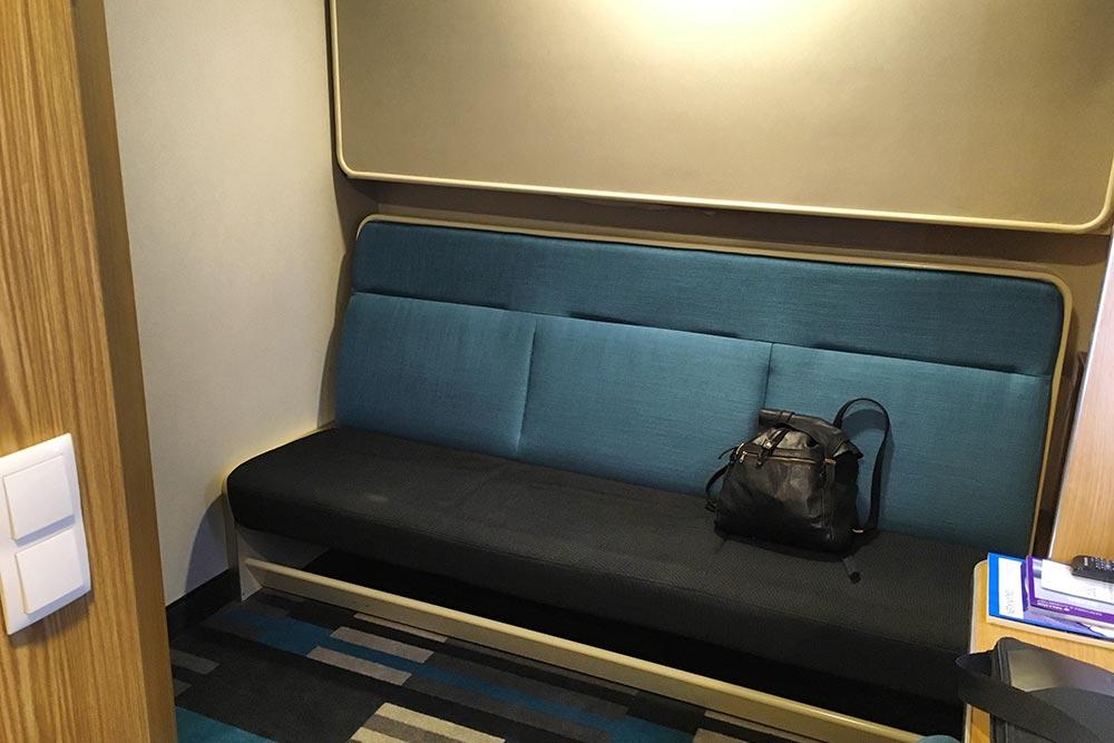 Кровати в стандартных каютах немного шире, чем полки в купе поезда