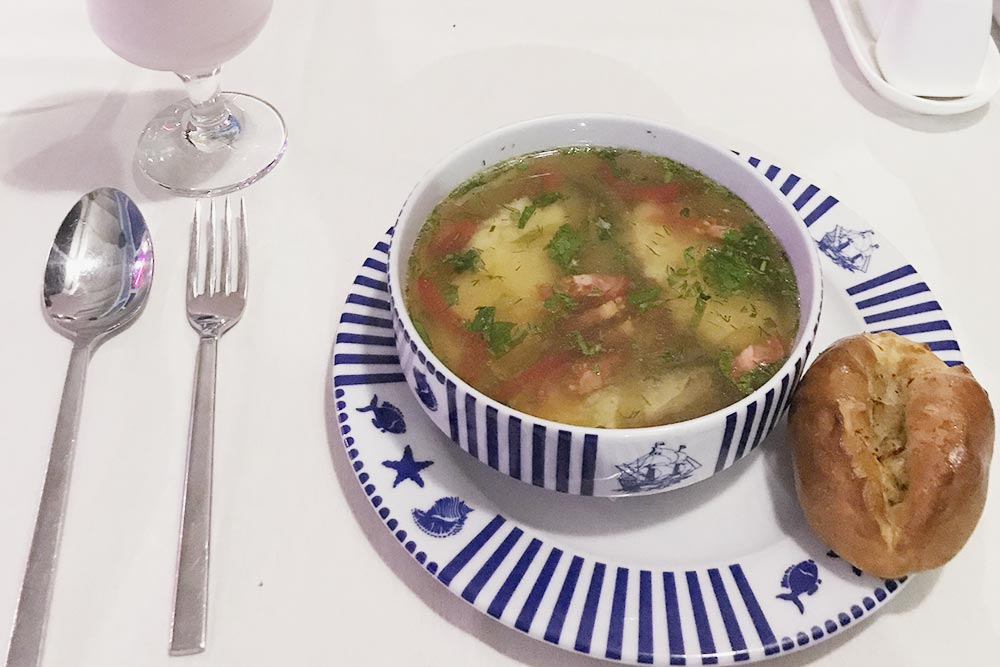 Юшка по-балаклавски в рыбном ресторане «Балаклава»