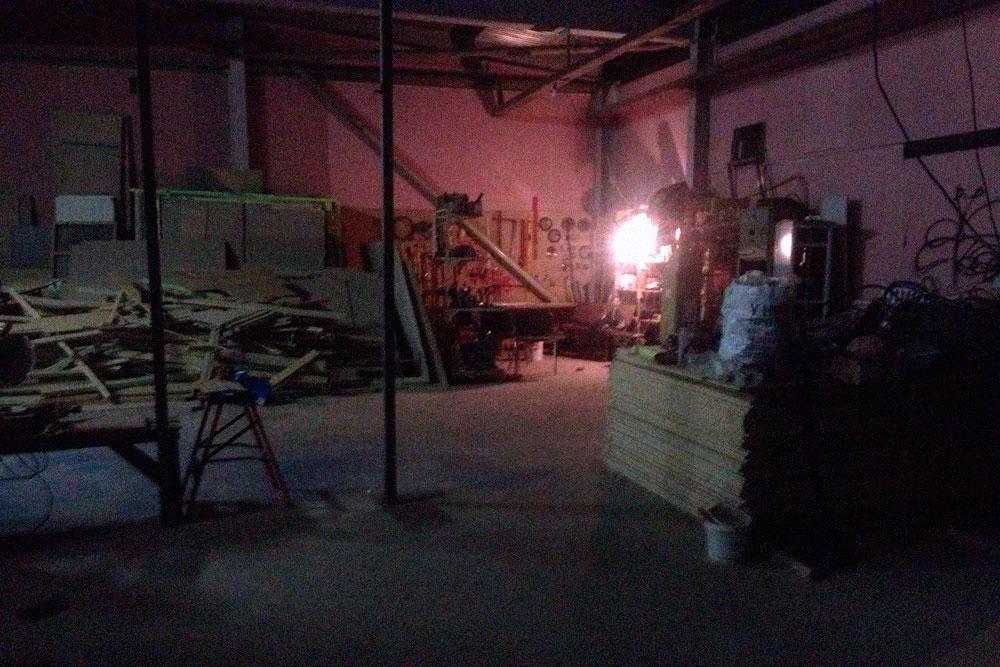 Наш зал во время ремонта: метраж игровой зоны — 250м, приветственной зоны — еще 30 м