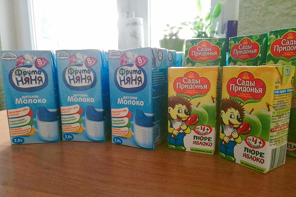 Сын обожает на ночь выпить чашку молока, а потому молочная кухня нас неплохо выручает