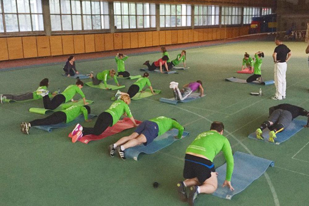 Тренировка в манеже в Магнитогорске