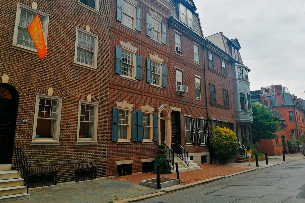 Улицы Филадельфии в районе Риттенхаус-сквер