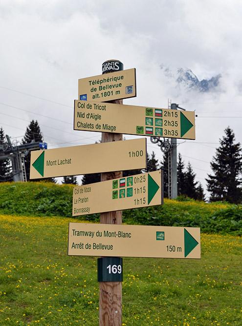 От основного пути отходит множество альтернативных однодневных маршрутов