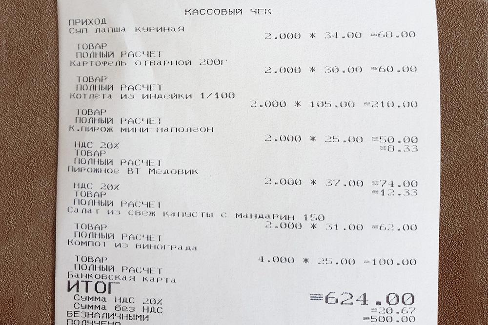 Цены в столовой МГУ более чем демократичные