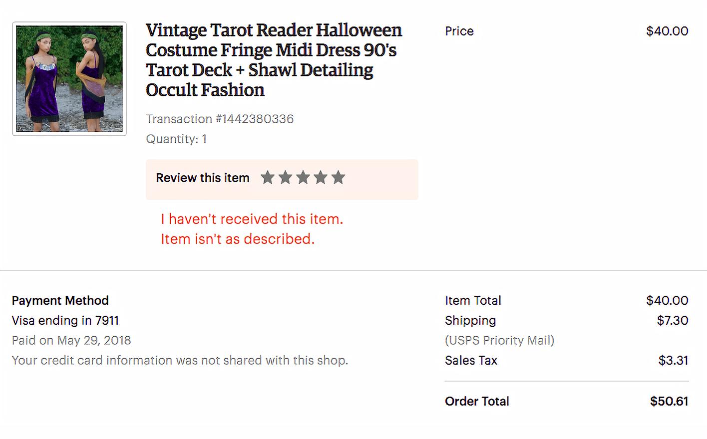 Свадебное платье — карнавальный костюм гадалки — я заказала на «Этси»