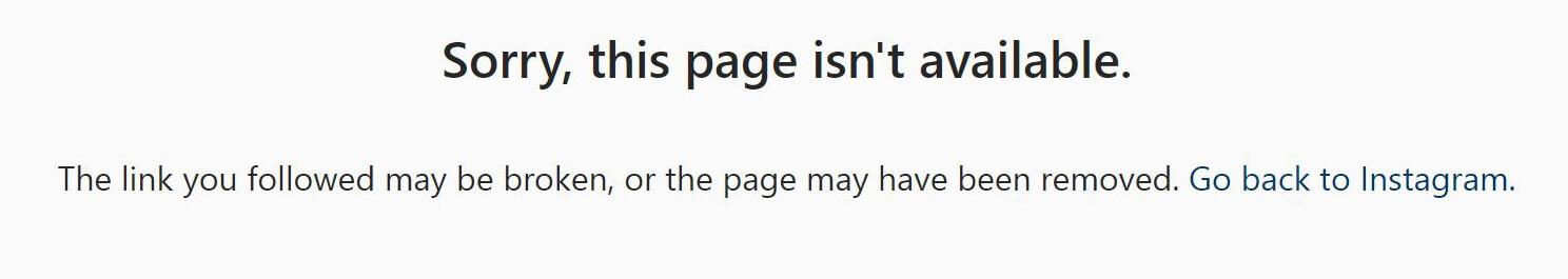 Когда «Инстаграм» блокирует аккаунт, он перестает открываться, будто его и не было