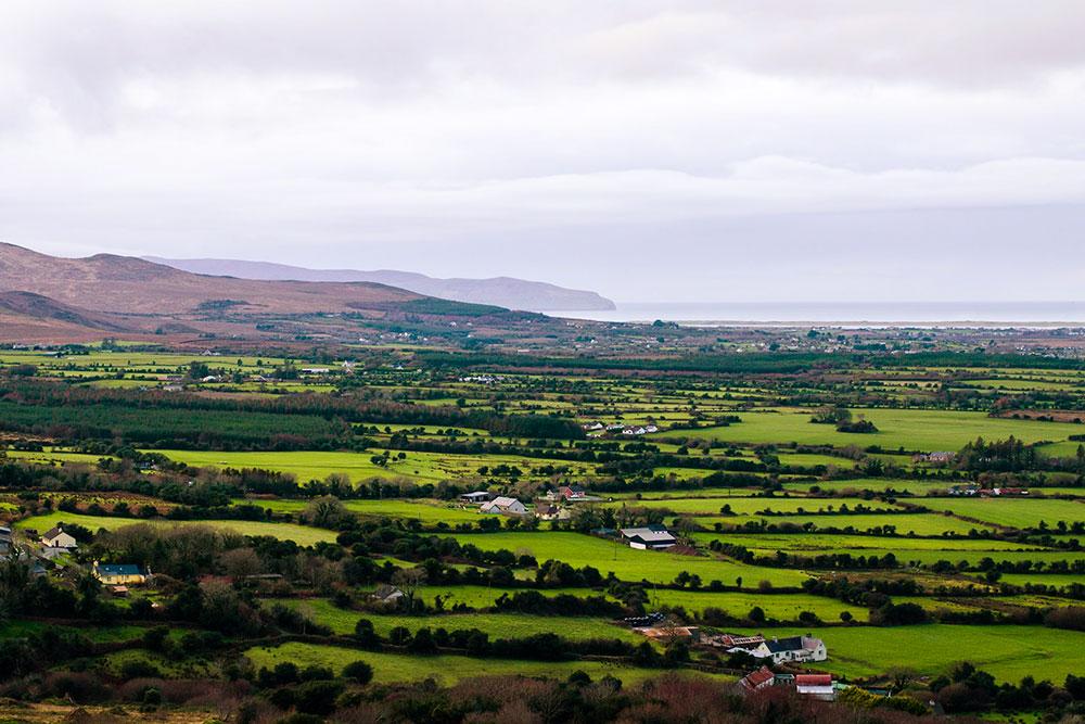 Полуостров Дингл, графство Керри. Практически влюбой точке Ирландии вы обязательно увидите поля насыщенного изумрудного цвета