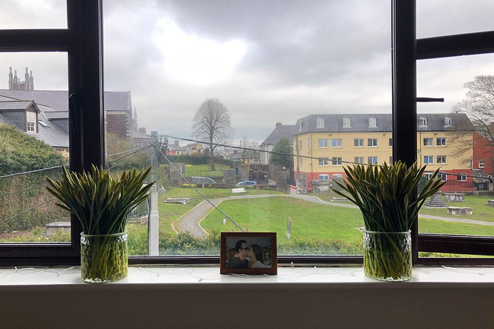 Вид из нашего окна — на старинное кладбище