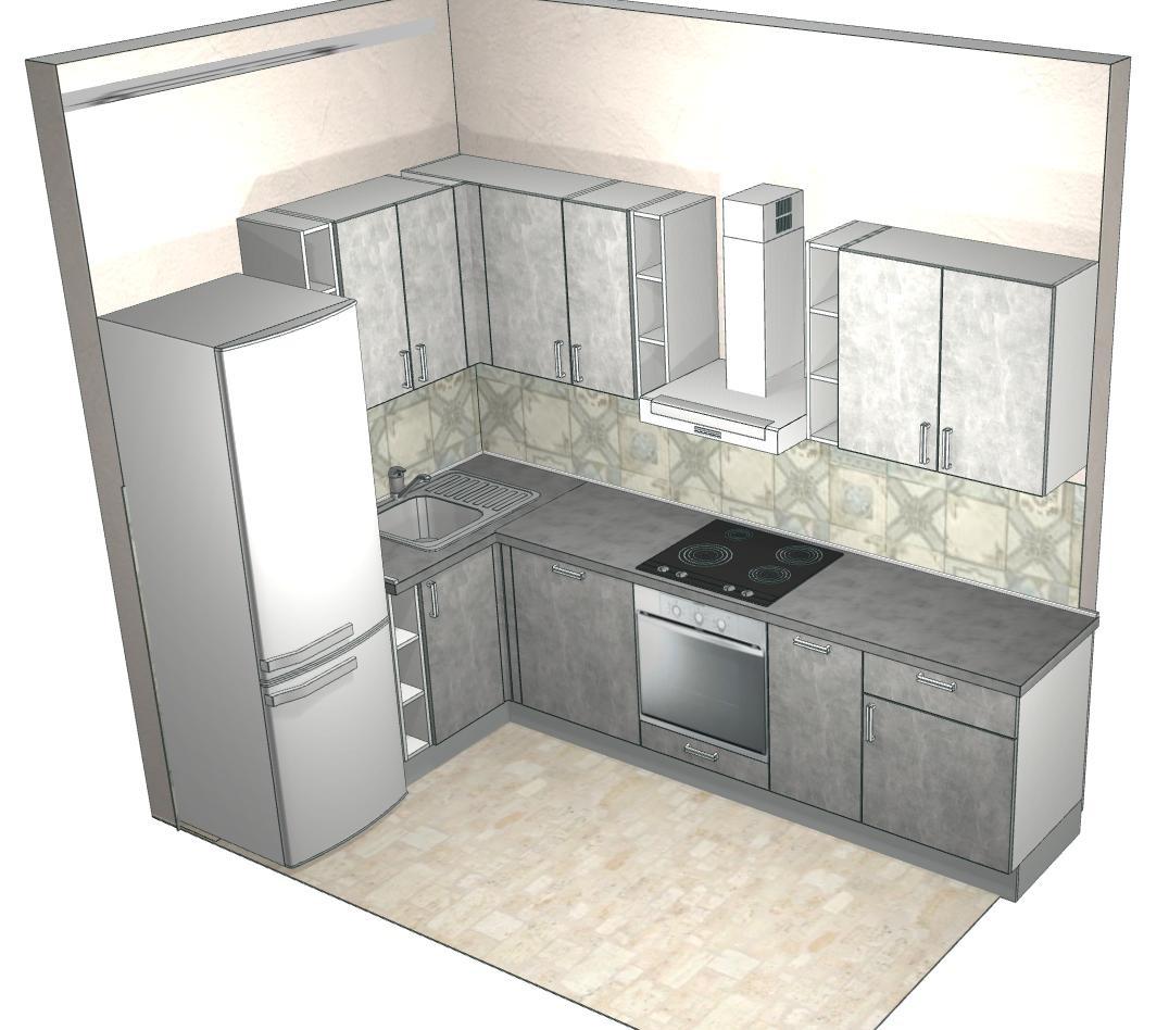 Такую кухню нам предложили в«Едим дома». Дизайнер неучла, что наши потолки позволяют повесить метровые настенные шкафы. Нафото шкафы высотой 60см — нам непонравилось