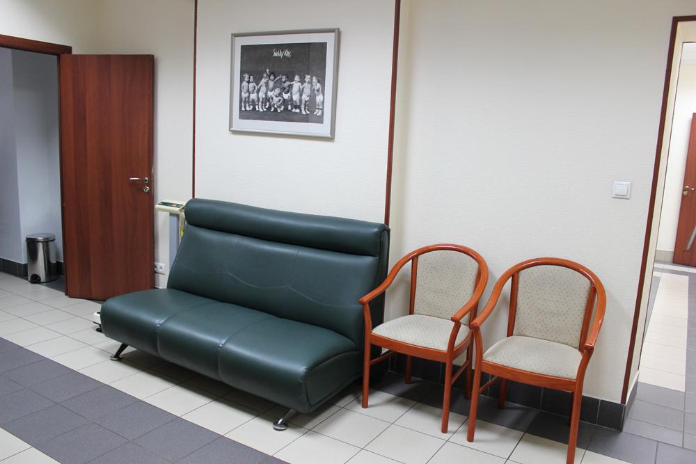 Холл в частной клинике, где я наблюдалась
