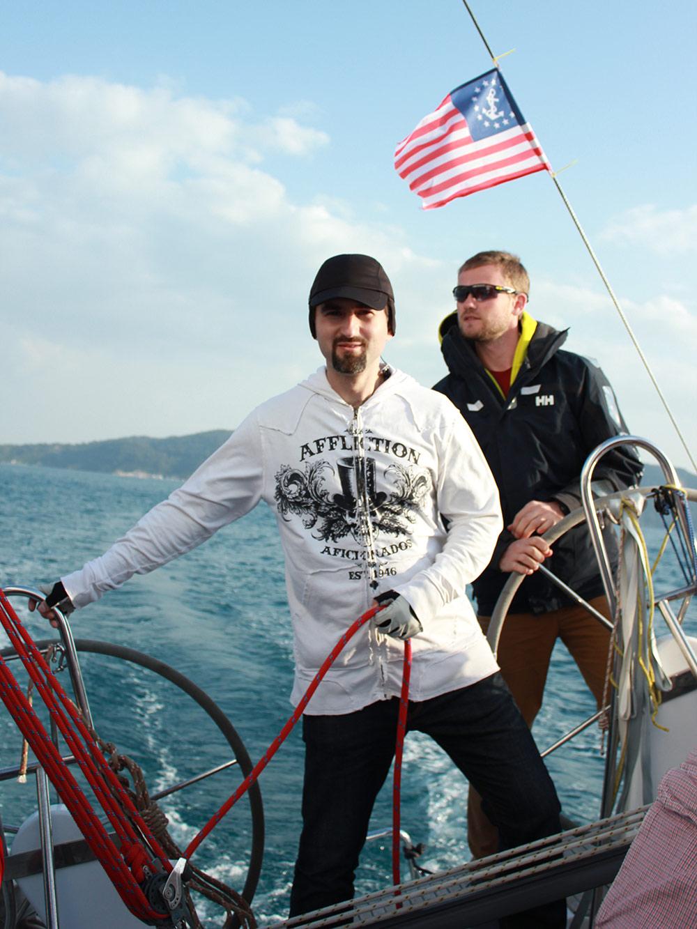 Первые практические занятия в Средиземном море