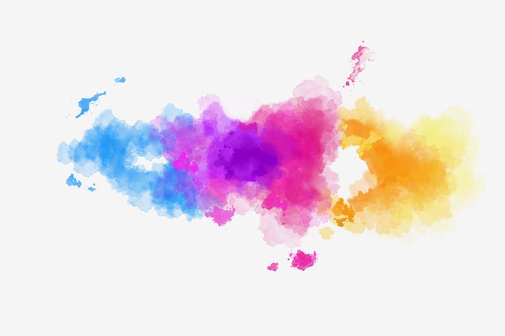 Добавили цвета — яркие акварельные разводы, которые ассоциировались унас слаками дляногтей