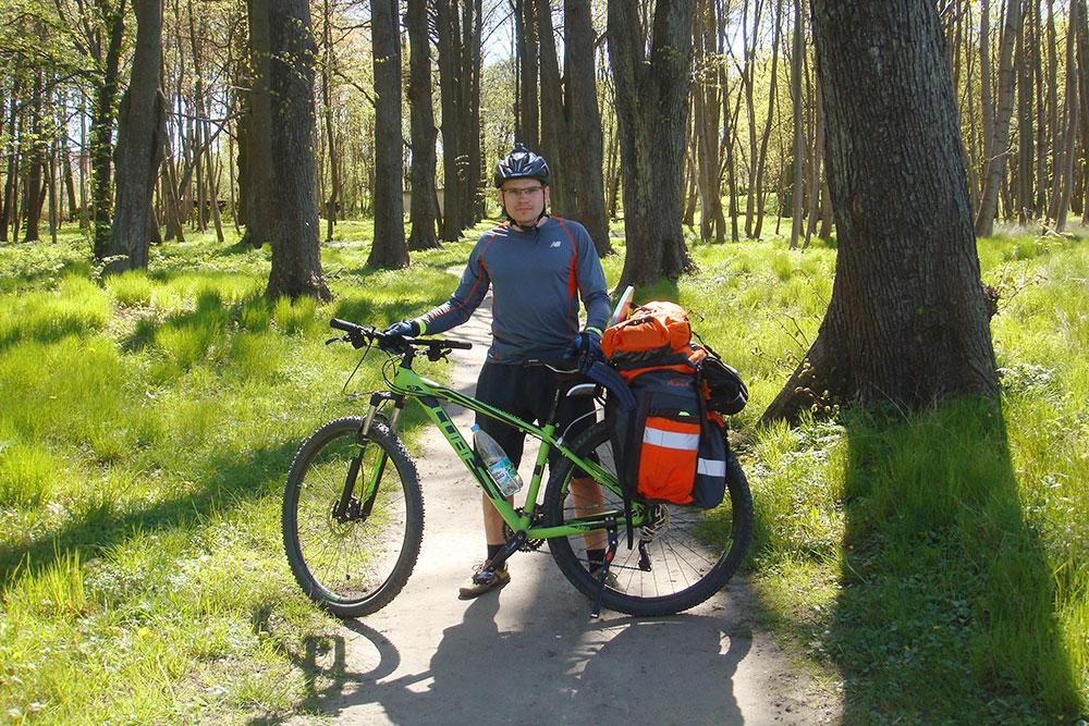 Я в велопоходе по Калининградской области в майские праздники