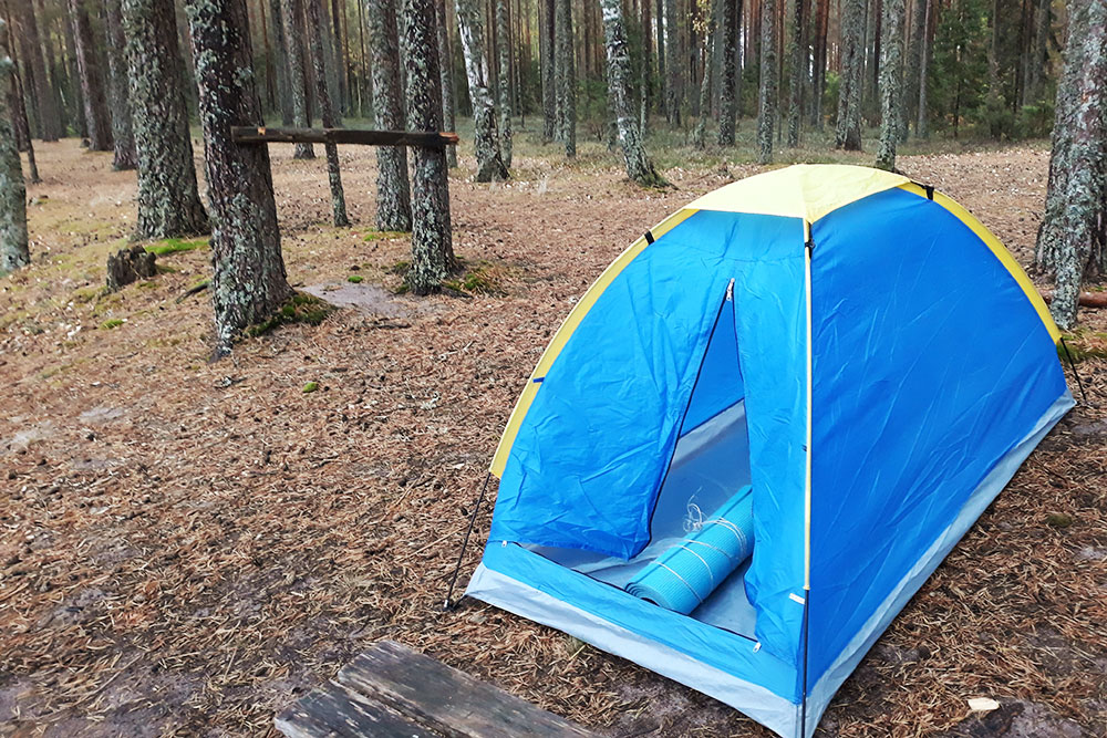Палатка за 1000 рублей из «Ленты» подойдет для походов в сухую погоду. Морось выдержит, но дождь уже нет
