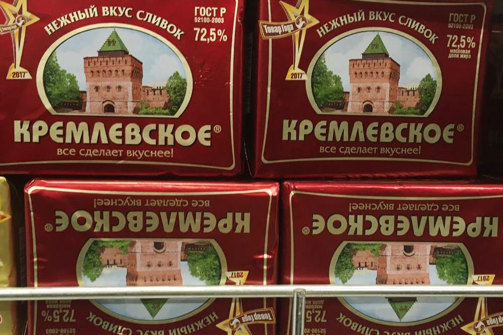 «Кремлевское» — несливочное масло, аспред нарастительной основе