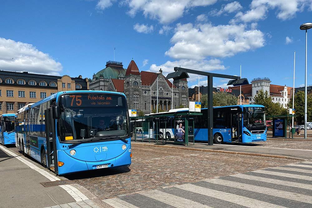 Городские автобусы вХельсинки. Кконцу 2020года мэрия планирует полностью перевести ихнабиотопливо