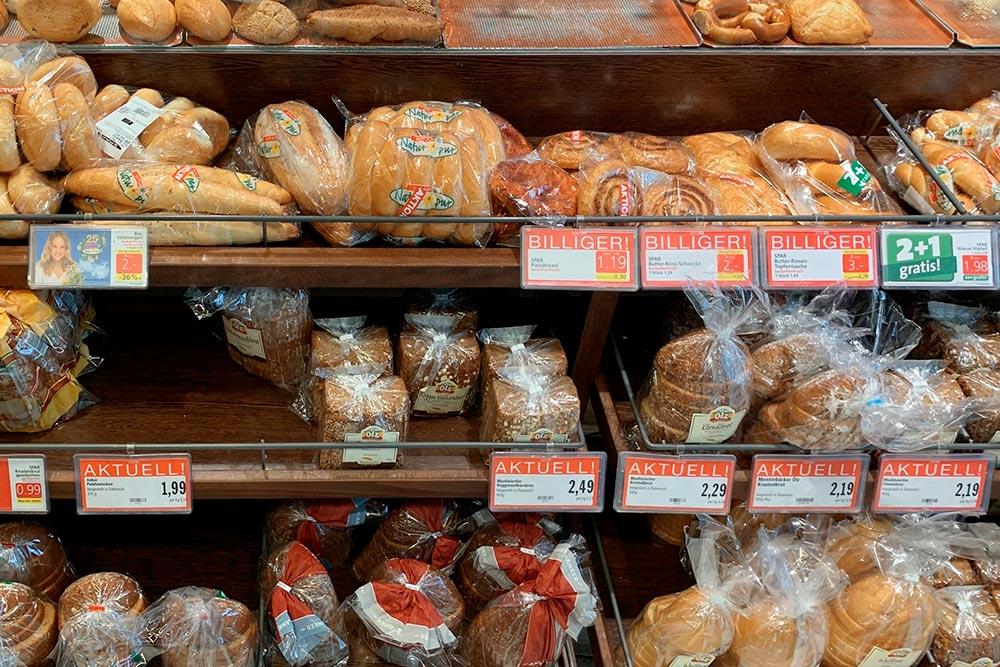 Хлеб стоит от&nbsp;0,89&nbsp;€ (81&nbsp;<span class=ruble>Р</span>)
