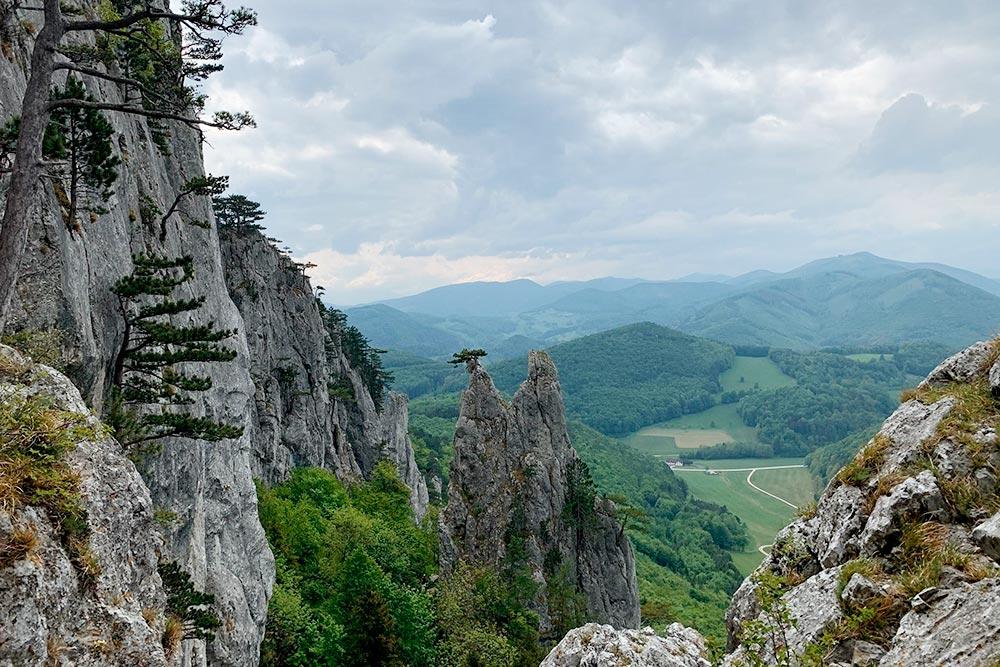 Вид надолину соШнеберга — самого высокого горного массива НижнейАвстрии
