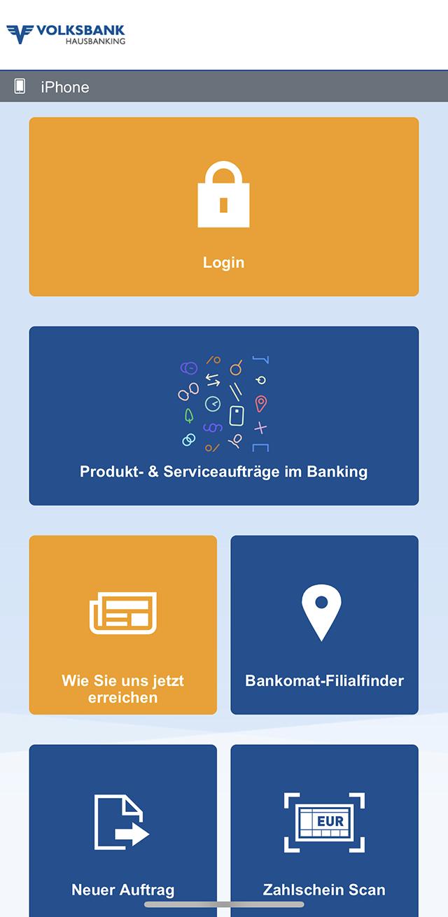 Интерфейс приложения Volksbank. Очень невнятная разбивка покатегориям, которая ничего неумеет категоризировать автоматически